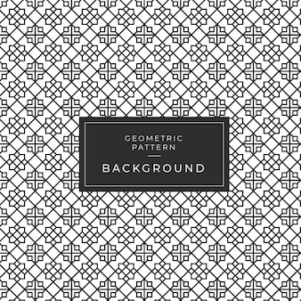Modern geometric monochrome tile pattern for wallpaper