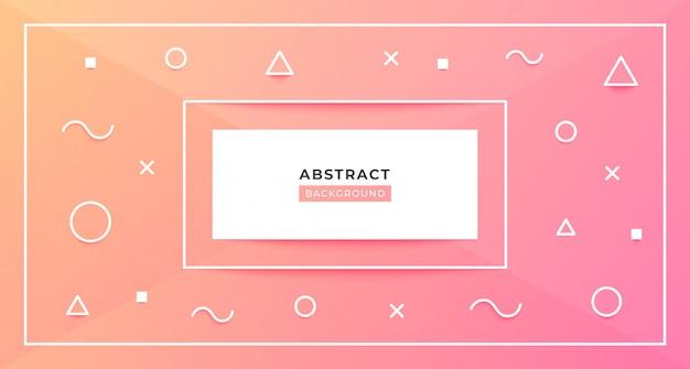Modern geometric peach background