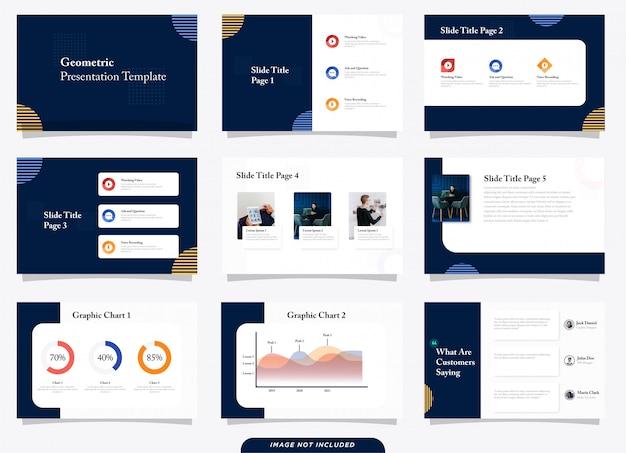 Modern geometric presentation template