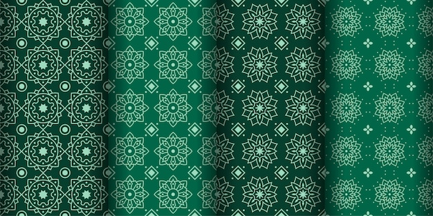 Modern geometric seamless pattern background. classic batik wallpaper. set
