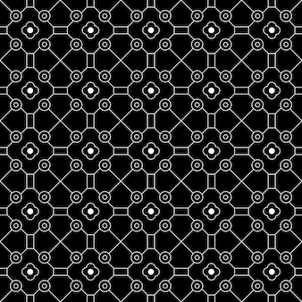 モダンな幾何学的なシームレスパターン背景。古典的なバティック壁紙。