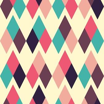 Modern geometric seamless pattern with small rhombuses.