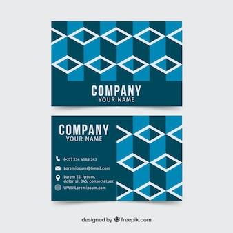 Современная геометрическая форма визитной карточки