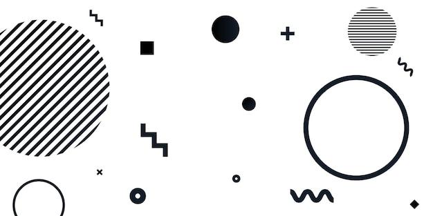 Современные геометрические фигуры цветной фон абстрактные черные линии искусства