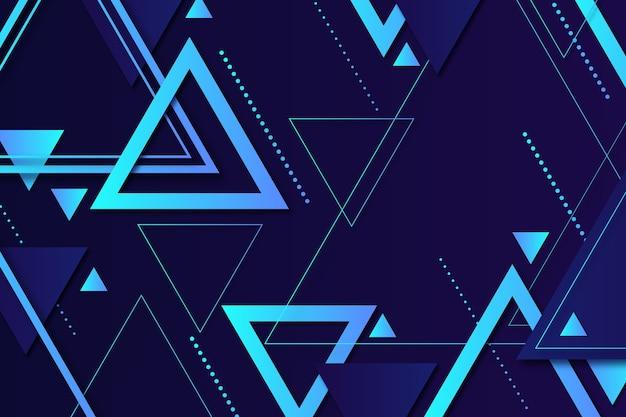 Modern geometric shapes on dark background