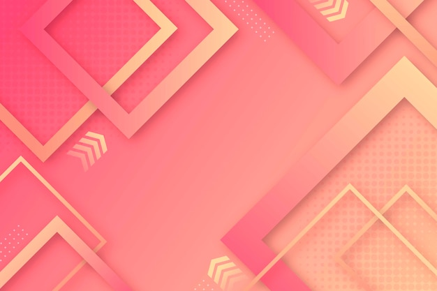 Modern geometric shapes wallpaper