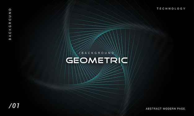 Modern geometric technology background