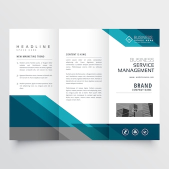 Modern geometrical business brochure