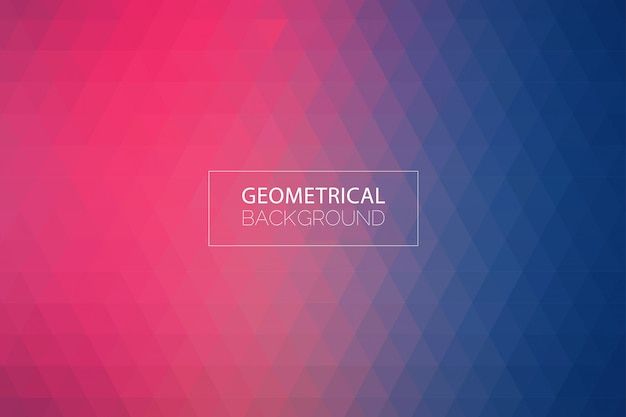 Modern geometrical purple blue background