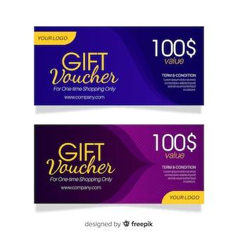 Modern gift voucher banners