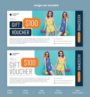 Modern gift voucher template design