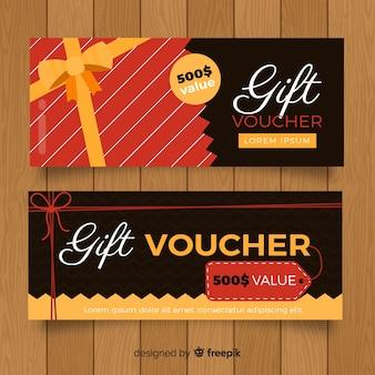 Modern gift voucher with elegant style
