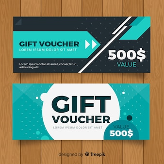 Modern gift voucher with elegant style