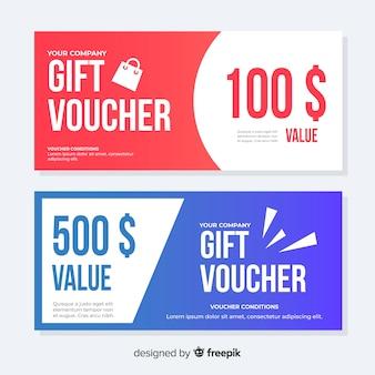 Modern gift voucher