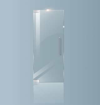 Modern glass door. transparent concepts for architectural projects.