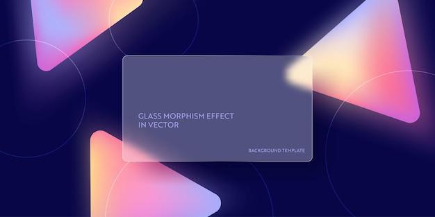 Modern glass morphism fluid gradient background. vector template futuristic trendy design banner, 3d poster, minimalism neon cover, glass blur flyer, presentation. geometric website, ui backdrop
