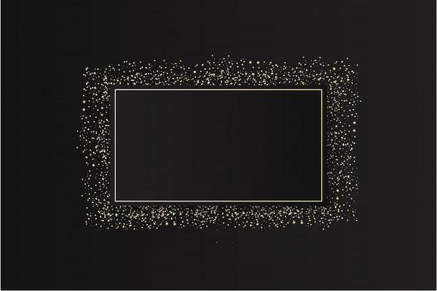 Modern glitter frame with sparkles