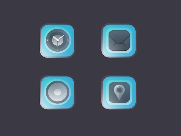 Modern glossy blue icon