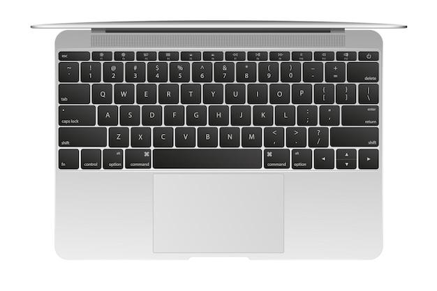 Современный глянцевый ноутбук, изолированные на белом фоне