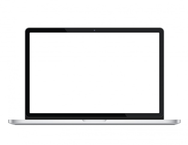 Modern glossy laptop ultrabook