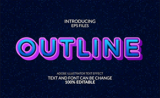Modern glow neon text effect. editable font and text