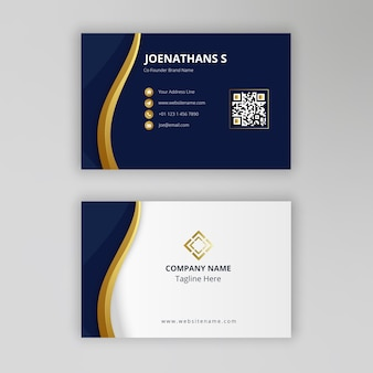 Modern gold elegant business card