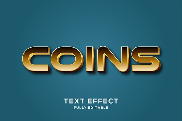 Modern gold luxury text effect