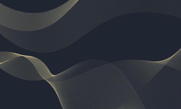 モダンなゴールドの波線の背景。あなたの仕事のためのスマートなデザイン。