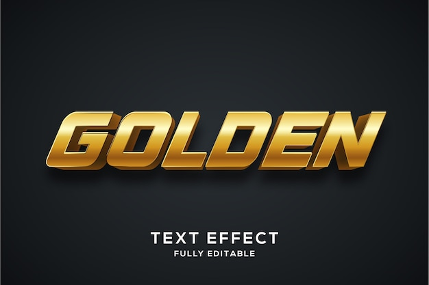 Современный золотой эффект стиля текста 3d