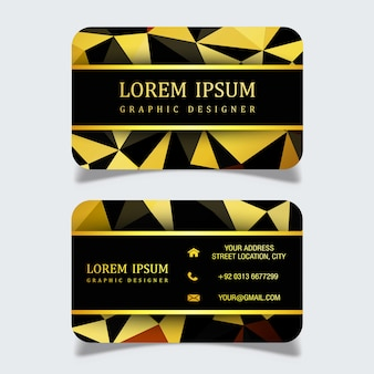Modern Golden & Black Business Card