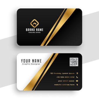 Modern golden business card template design