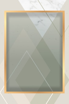 Modern golden frame