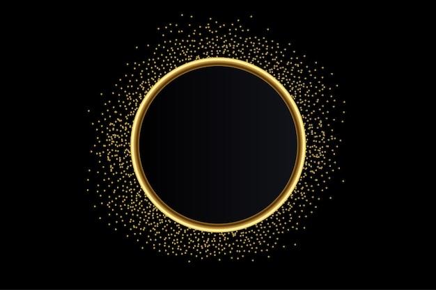 Modern golden glitter banner background