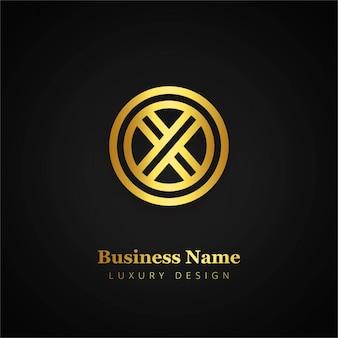 Modern golden logo design