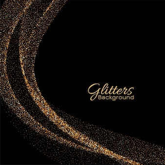 Modern golden sparkles elegant vector background