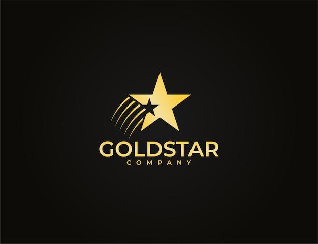 Современный золотой звездный логотип для бизнеса