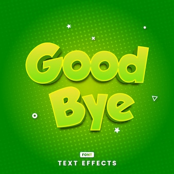 Modern goodbye text style effects