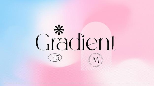 Modern gradient background blurred