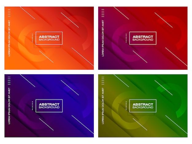 Modern gradient background set