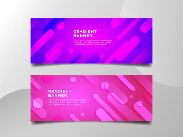 Modern gradient banner design