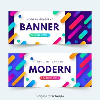 Modern gradient banner