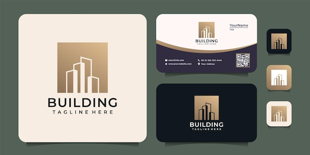 현대 그라데이션 건물 로고