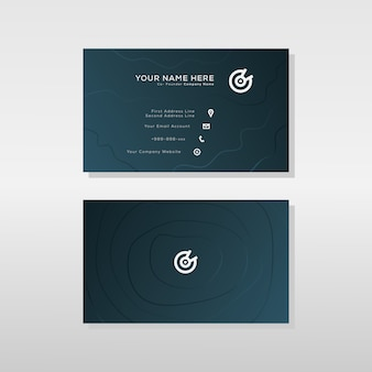 Шаблон дизайна визитной карточки современного градиента