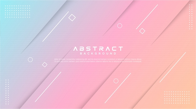 Modern gradient colorful abstract background