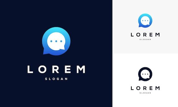 Шаблон логотипа агентства modern gradient consulting.