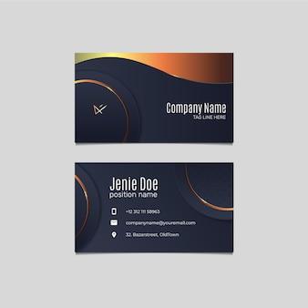 Modern gradient design template of business card