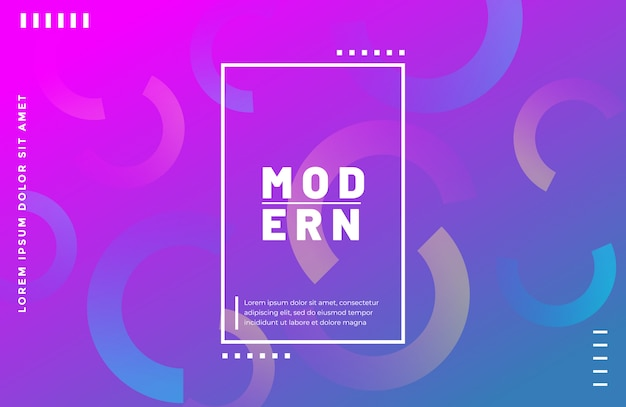 Modern gradient geometric shape background with vibrant color
