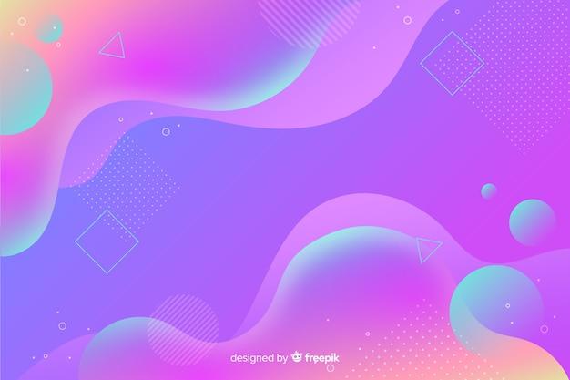 Modern gradient liquid shapes background