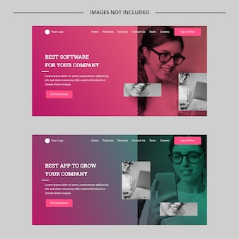 Modern gradient multipurpose website concept