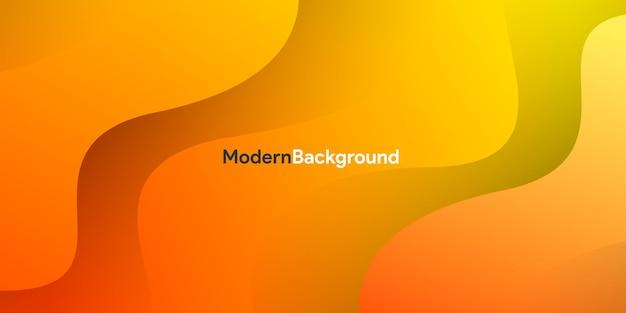 Современный градиент оранжевая кривая фона